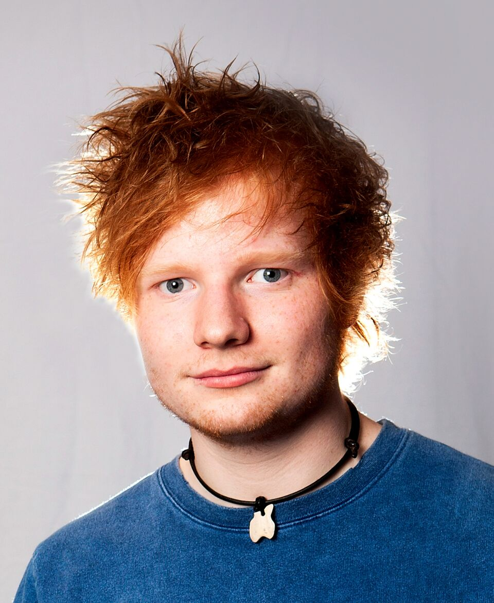 Ed Sheeran poses during a Biz Session in a Wapping recording studio. | Source: Getty Images
