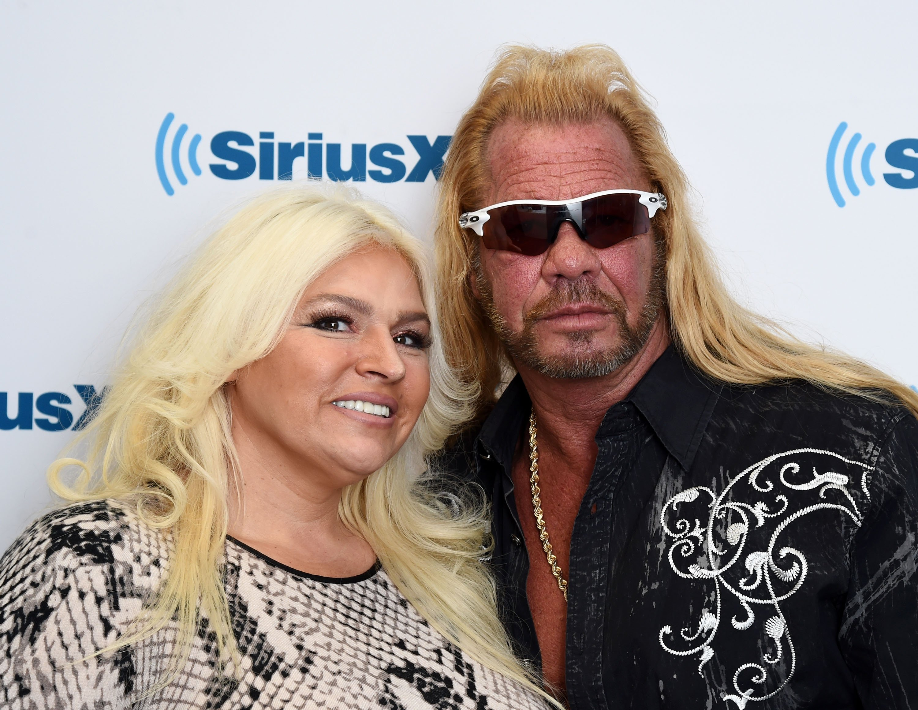 Beth Chapman and Dog the Bounty Hunter, Duane Chapman visits the SiriusXM Studios on April 24, 2015, in New York City. | Source: Getty Images.
