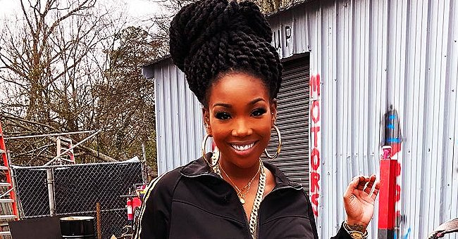 Brandy Norwood of 'Moesha' Who Recently Teased New Single 'Baby Mama' Smiles in a New Photo