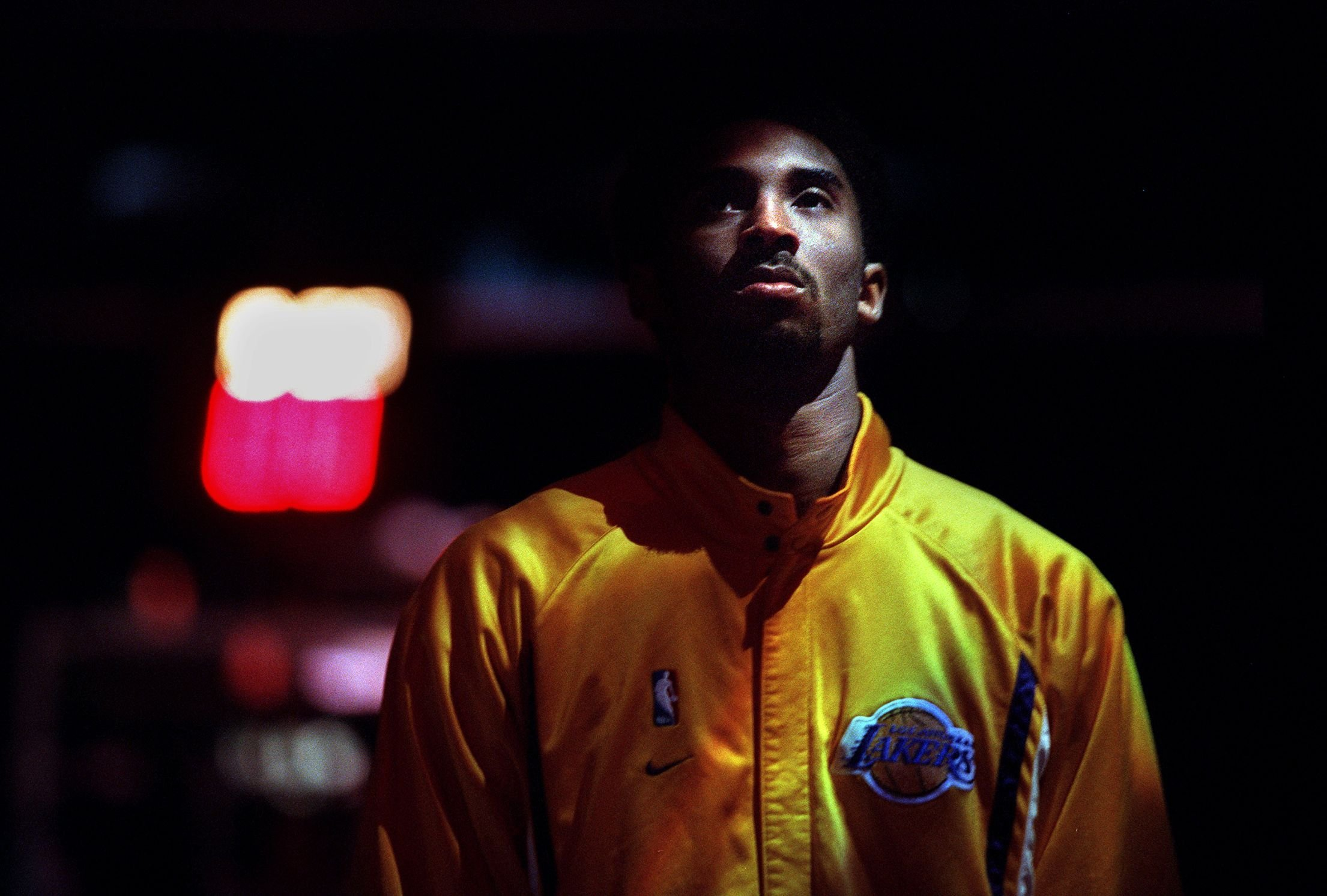 Kobe Bryant at an NBA pre-game ceremony | Source: Getty Images/GlobalImagesUkraine