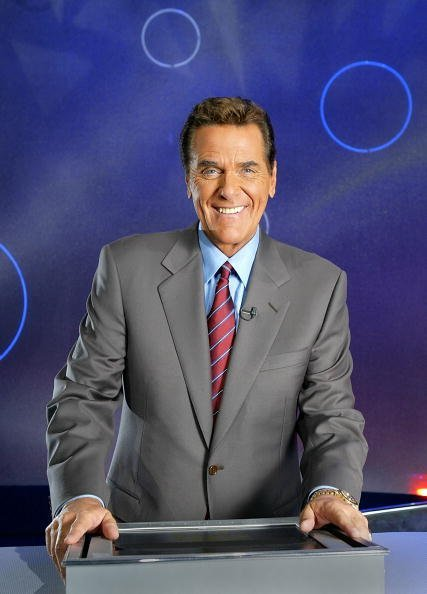"""Chuck Woolery poses on the """"Lingo"""" set on October 22, 2003 in Los Angeles 