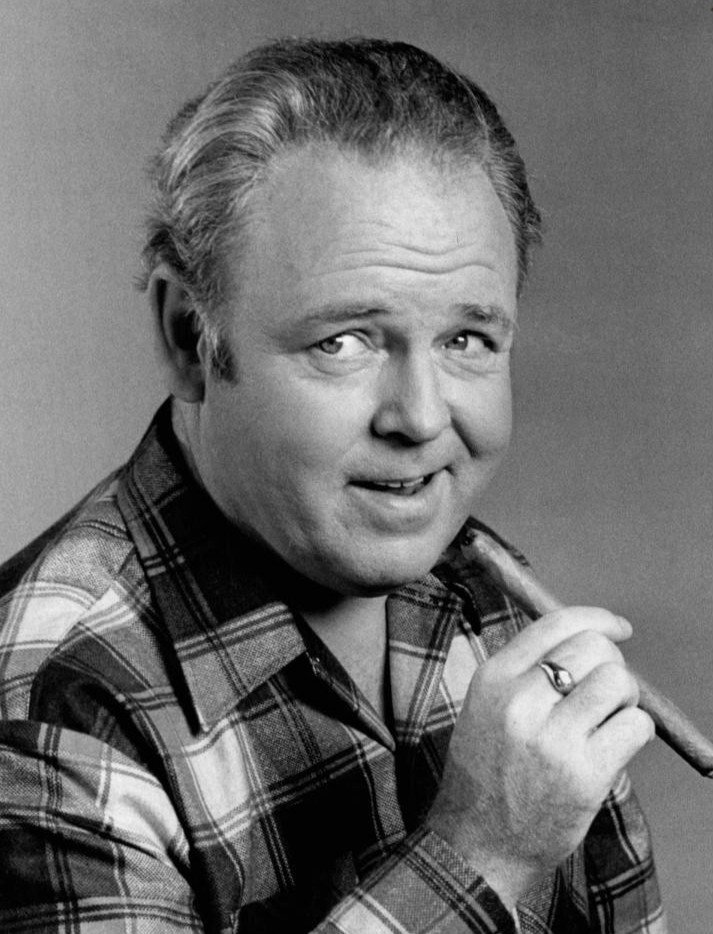 Actor Carroll O'Connor as Archie Bunker. | Source: Wikimedia Commons.