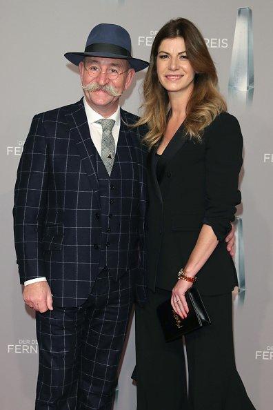 Horst Lichter und seine Frau Nada, Deutscher Fernsehpreis 2019   Quelle: Getty Images