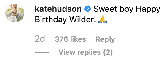 Celebrities send birthday messages to Wilder Hudson | Source: instagram.com/theoliverhudson