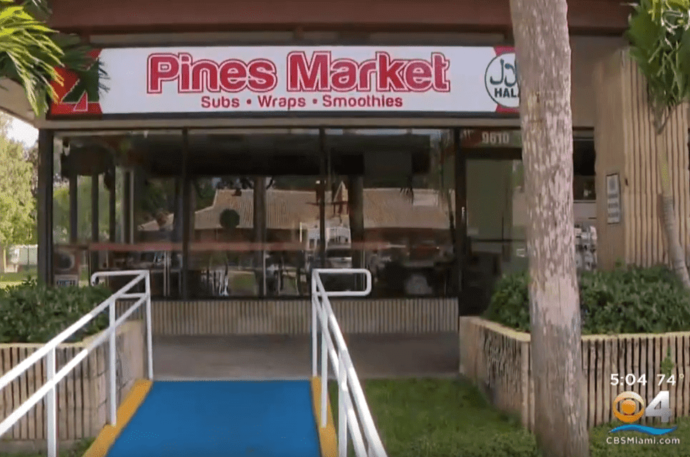 Screenshot image of Pines Market where Harold Williams was stabbed. | Photo: YouTube/CBS Miami