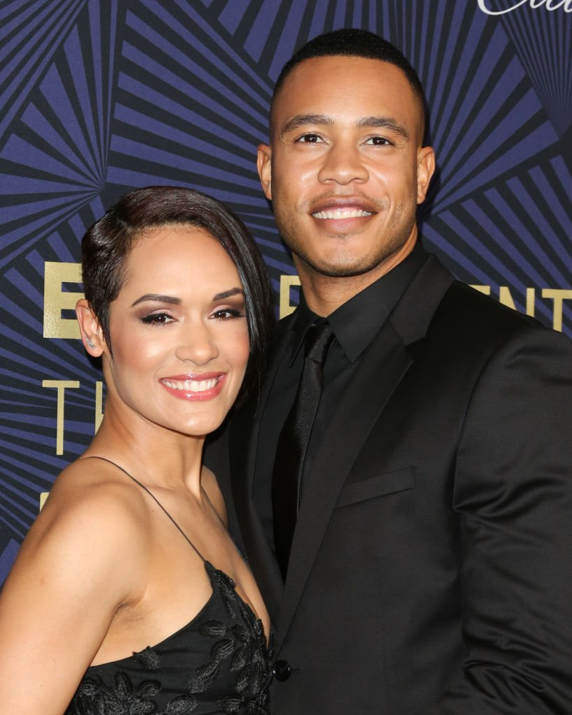 Grace Gealey and Trai Byers at BET's 2017 American Black Film Festival Honors Awards on February 17, 2017. | Photo: Getty Images