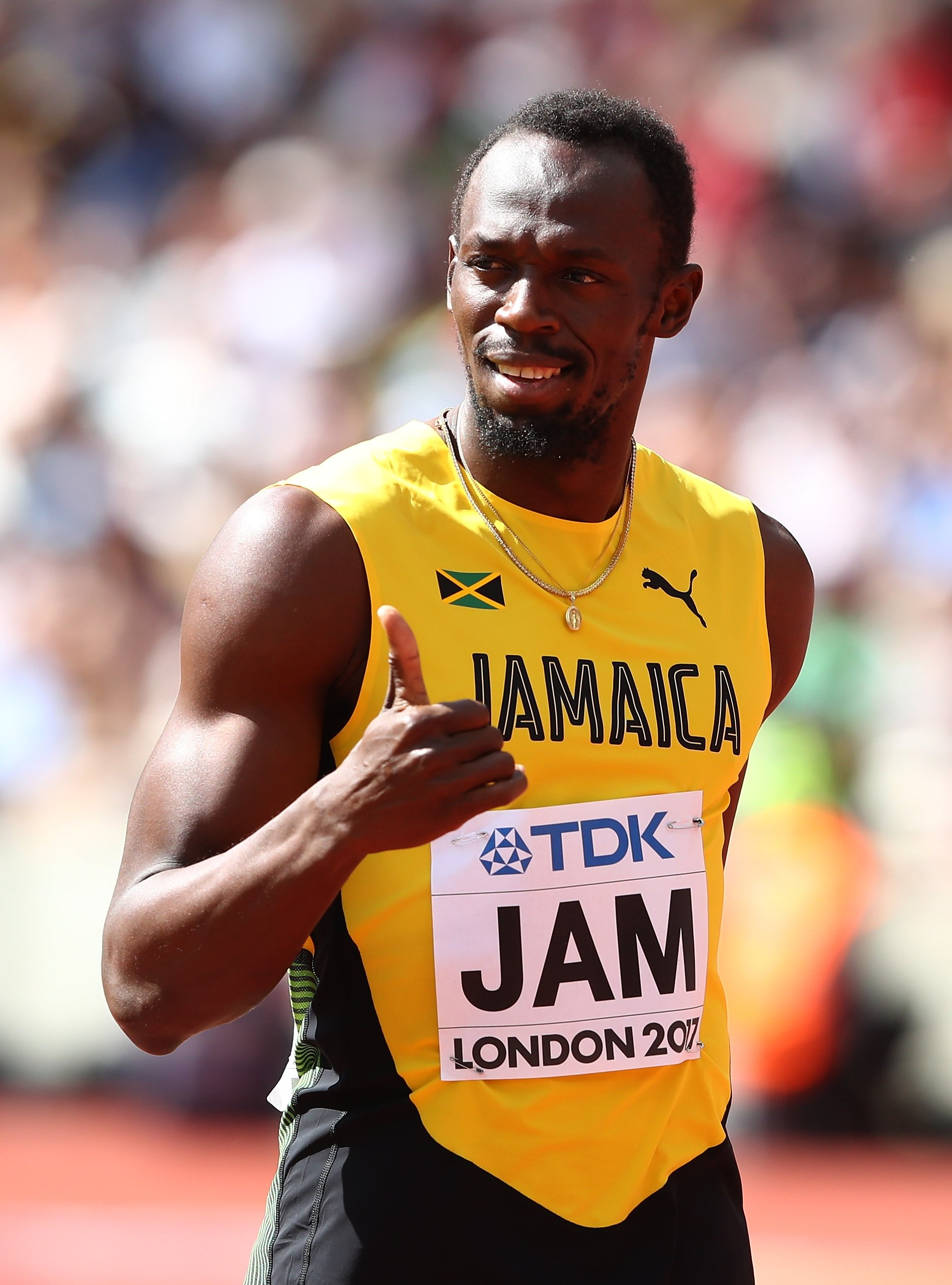 Usain Bolt at the 16th IAAF World Athletics Championships on Aug. 12, 2017 in London, United Kingdom | Photo: Getty Images