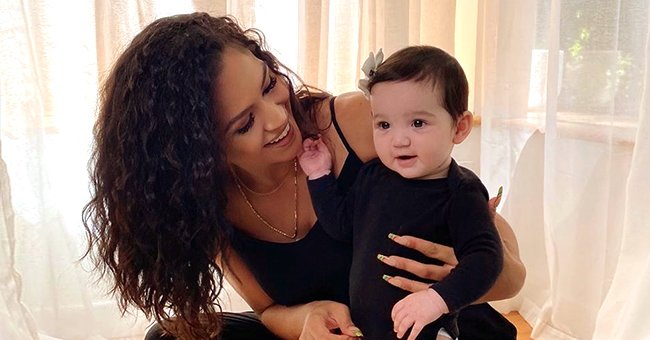 Check Out This Adorable Photo of Cassie with Growing Daughter Frankie in Matching Black Outfits""