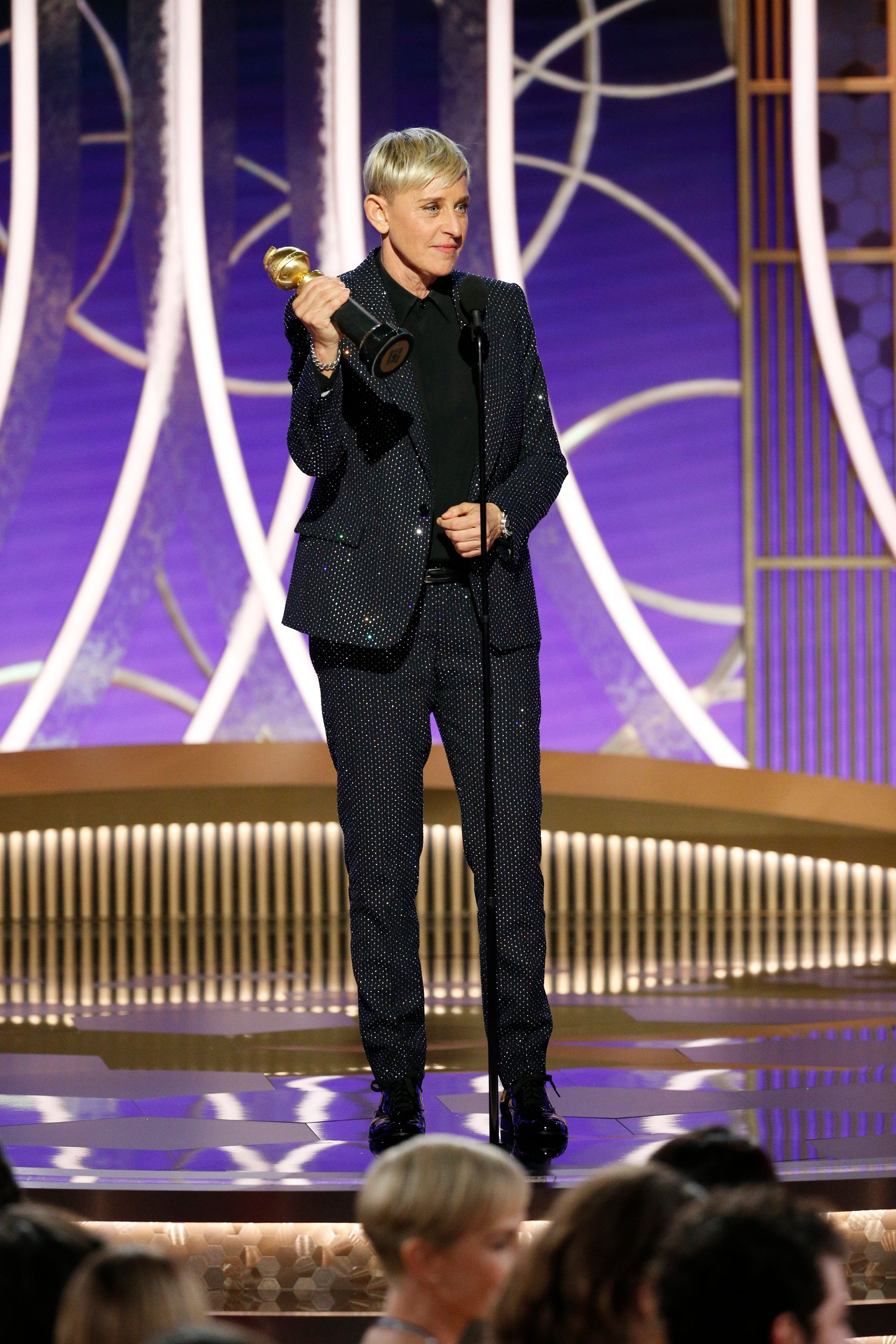 Ellen DeGeneres accepts the CAROL BURNETT AWARD onstage during the 77th Annual Golden Globe Awards at The Beverly Hilton Hotel on January 5, 2020 in Beverly Hills, California. | Source: Getty Images