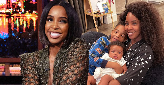 Kelly Rowland Smiles as She Cuddles with Her Two Sons Titan and Noah in a New Photo