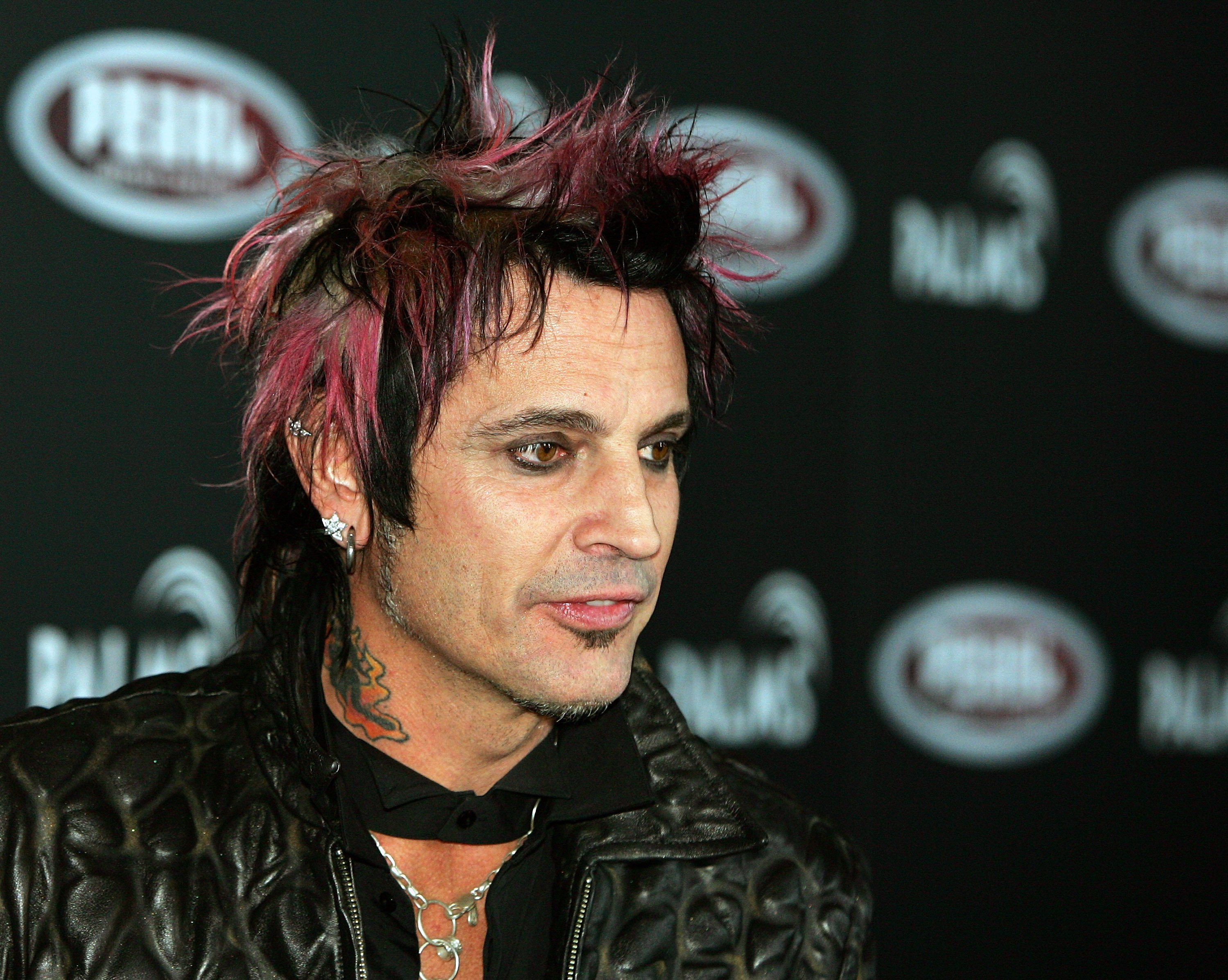 Tommy Lee arrives at the Palms Casino Resort April 21, 2007, in Las Vegas, Nevada.   Source: Getty Images.