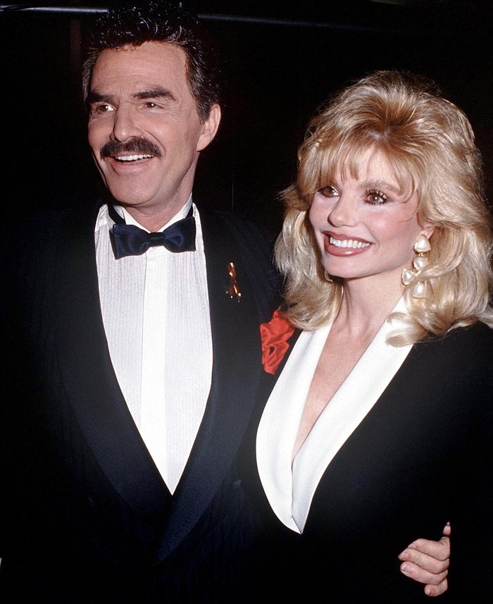Loni Anderson and Burt Reynolds at a party in 1987 I Photo: Getty Images