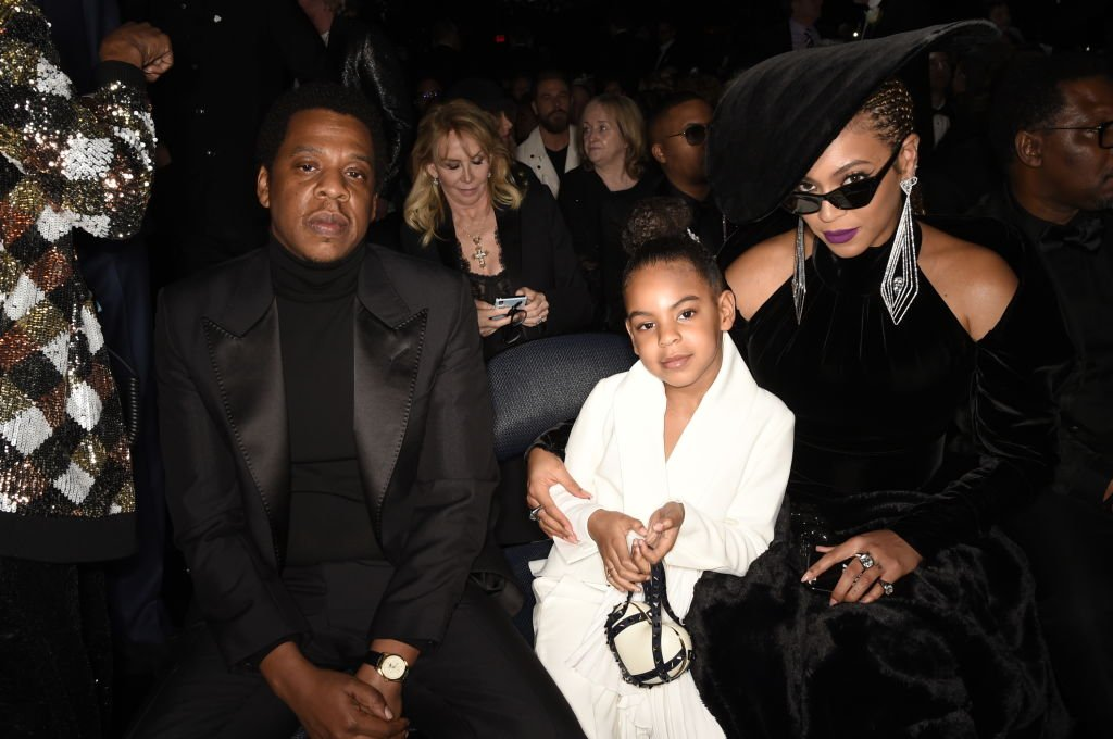 Jay-Z, Blue Ivy and Beyonce at the 60th Annual Grammy Awards in January  2018. | Photo: Getty Images