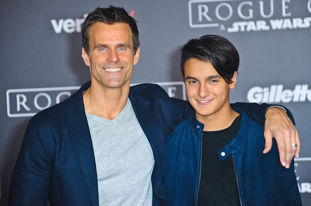 """Cameron Mathison and son Lucas Mathison attend the premiere of """"Rogue One: A Star Wars Story"""" in Hollywood, California on December 10, 2016 