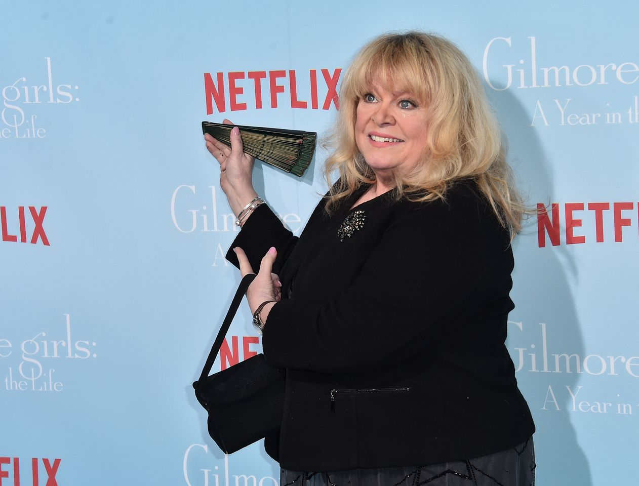"Sally Struthers attends the premiere of Netflix's ""Gilmore Girls: A Year In The Life"" at the Regency Bruin Theatre on November 18, 2016 in Los Angeles, California. 