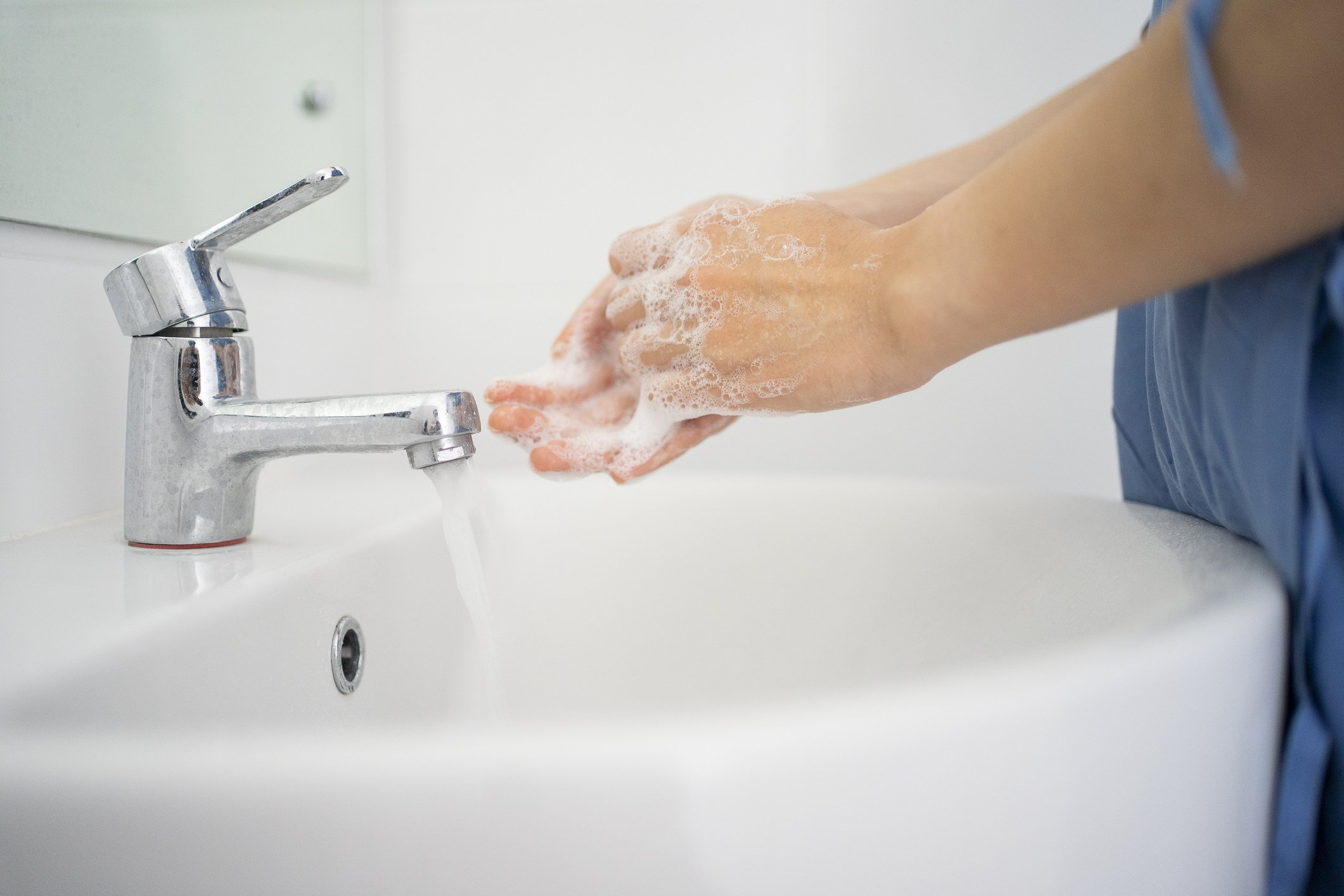 female Doctor teaching how to wash the hand with soap protect Covid-19   Photo   getty Images