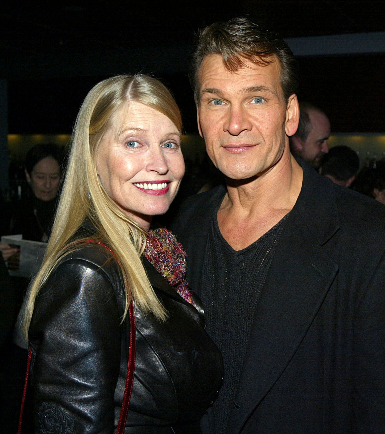 "Patrick Swayze and his wife Lisa Niemi arrive at the after-party for ""Chicago - The Musical"" 