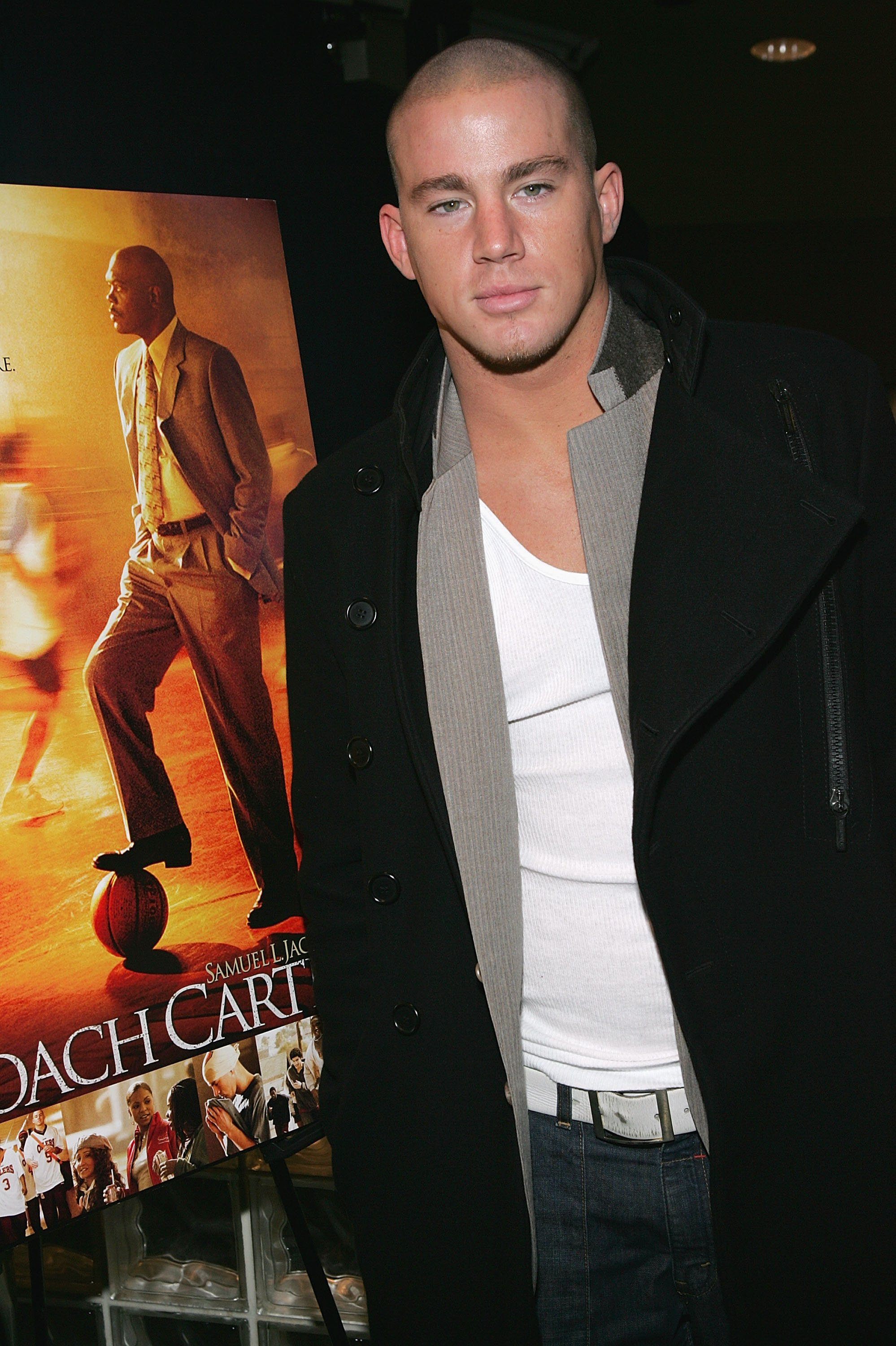"Channing Tatum attends the screening of ""Coach Carter"" in New York City on December 13, 2004 