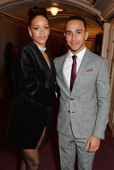 Rihanna und Lewis Hamilton, British Fashion Awards, London, 2014 | Quelle: Getty Images