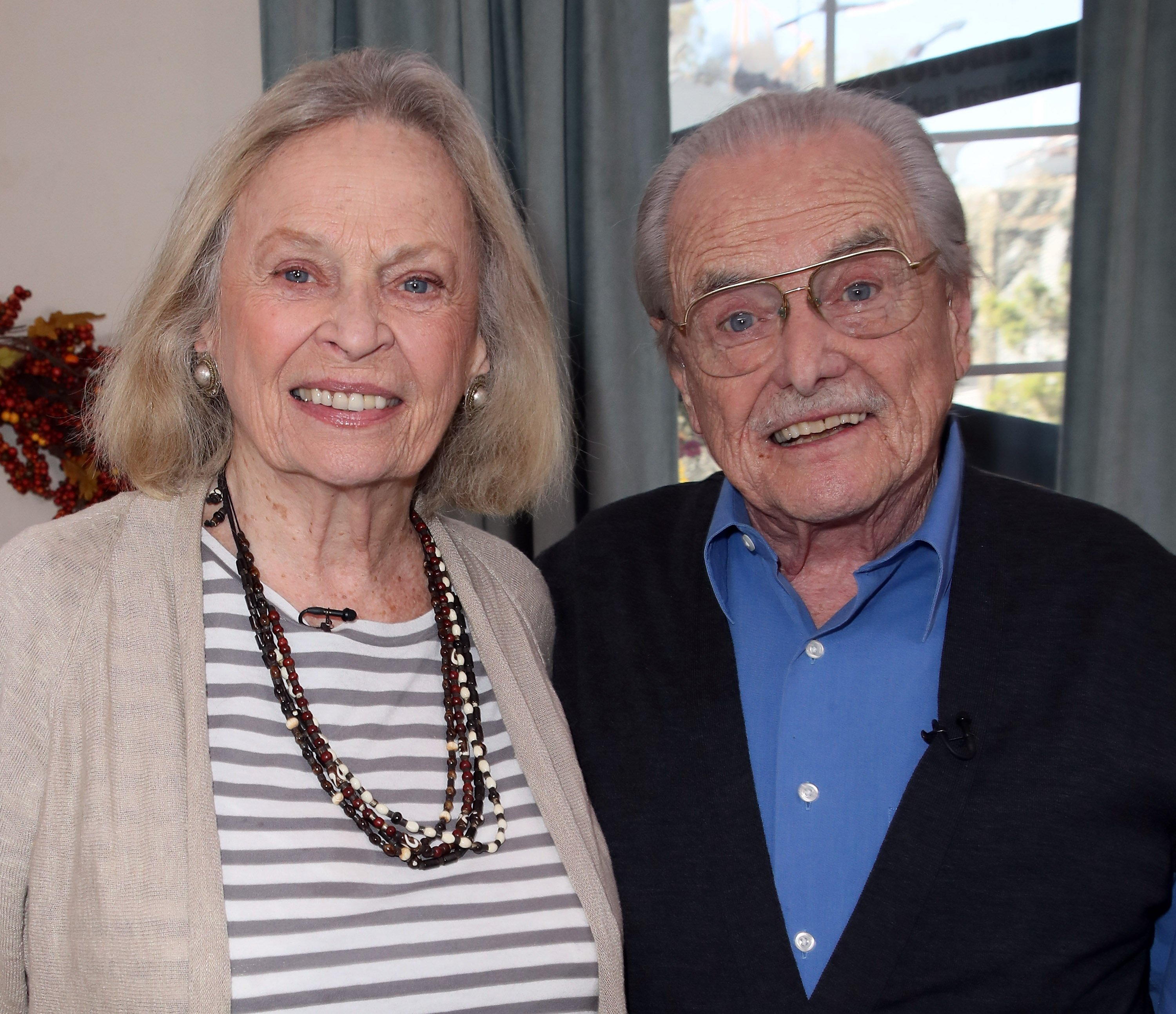 "Bonnie Bartlett and husband William Daniels visit Hallmark's ""Home & Family"" on October 25, 2017. 