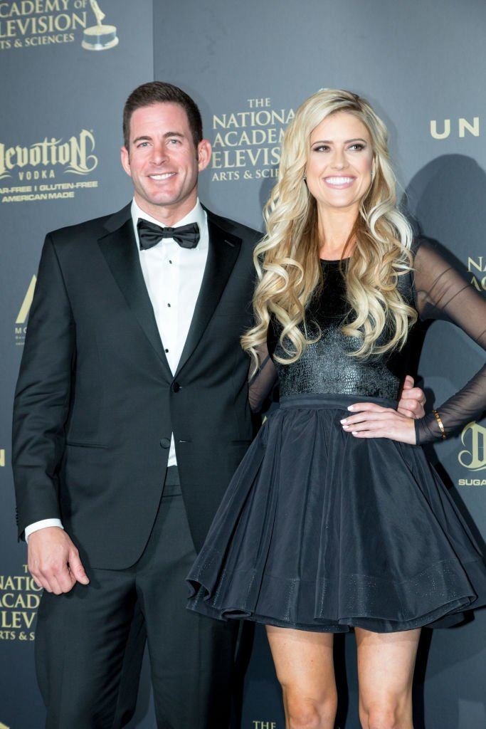 TV Personalities Tarek and Christina El Moussa attends the 44th Annual Daytime Emmy Awards at Pasadena Civic Auditorium | Photo: Getty Images