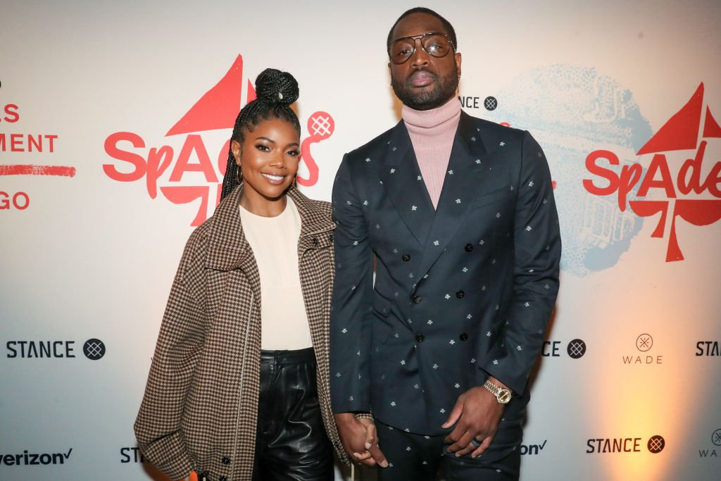 Gabrielle Union and Dwyane Wade attend Stance Spades at the NBA All-Star 2020| Photo: Getty images