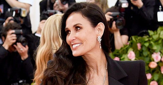 Demi Moore Basks in the Sun in Her Garden Wearing a Casual Outfit – See Her Youthful Look