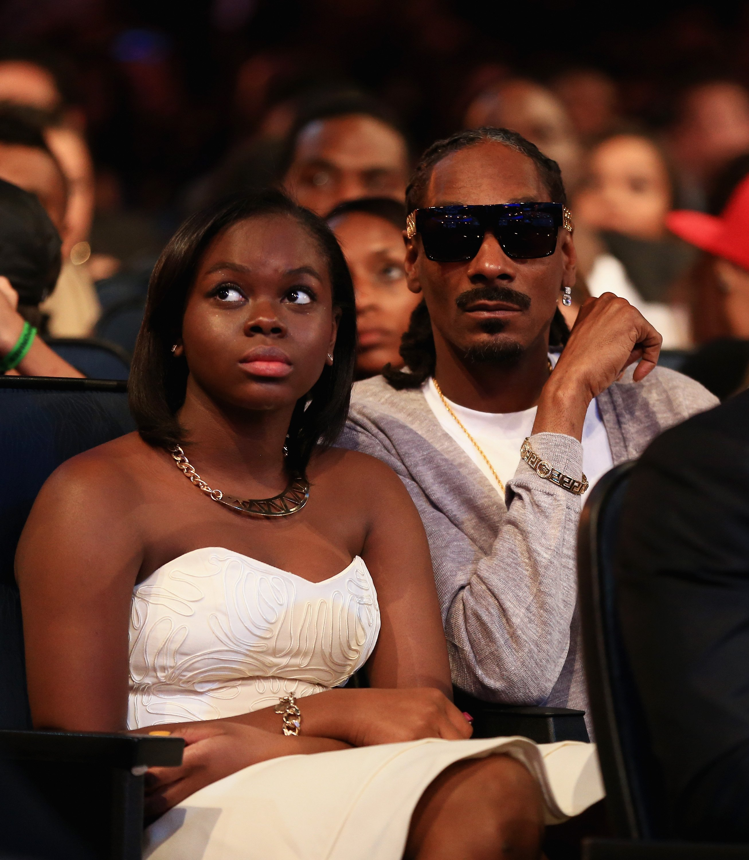 Snoop Dogg and Cori Broadus attend the BET Awards '14 at Nokia Theatre on June 29, 2014 in Los Angeles, California.  Source: Getty Images
