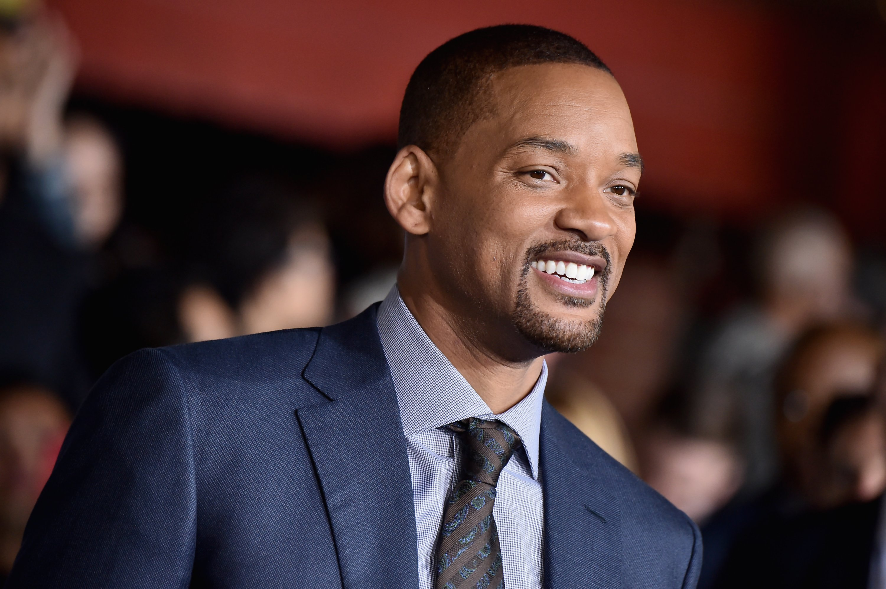 "Will Smith at the premiere of Netflix's ""Bright"" in December 2017. 