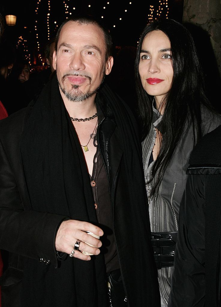 Florent Pagny et sa compagne Azucena. l Source: Getty Images