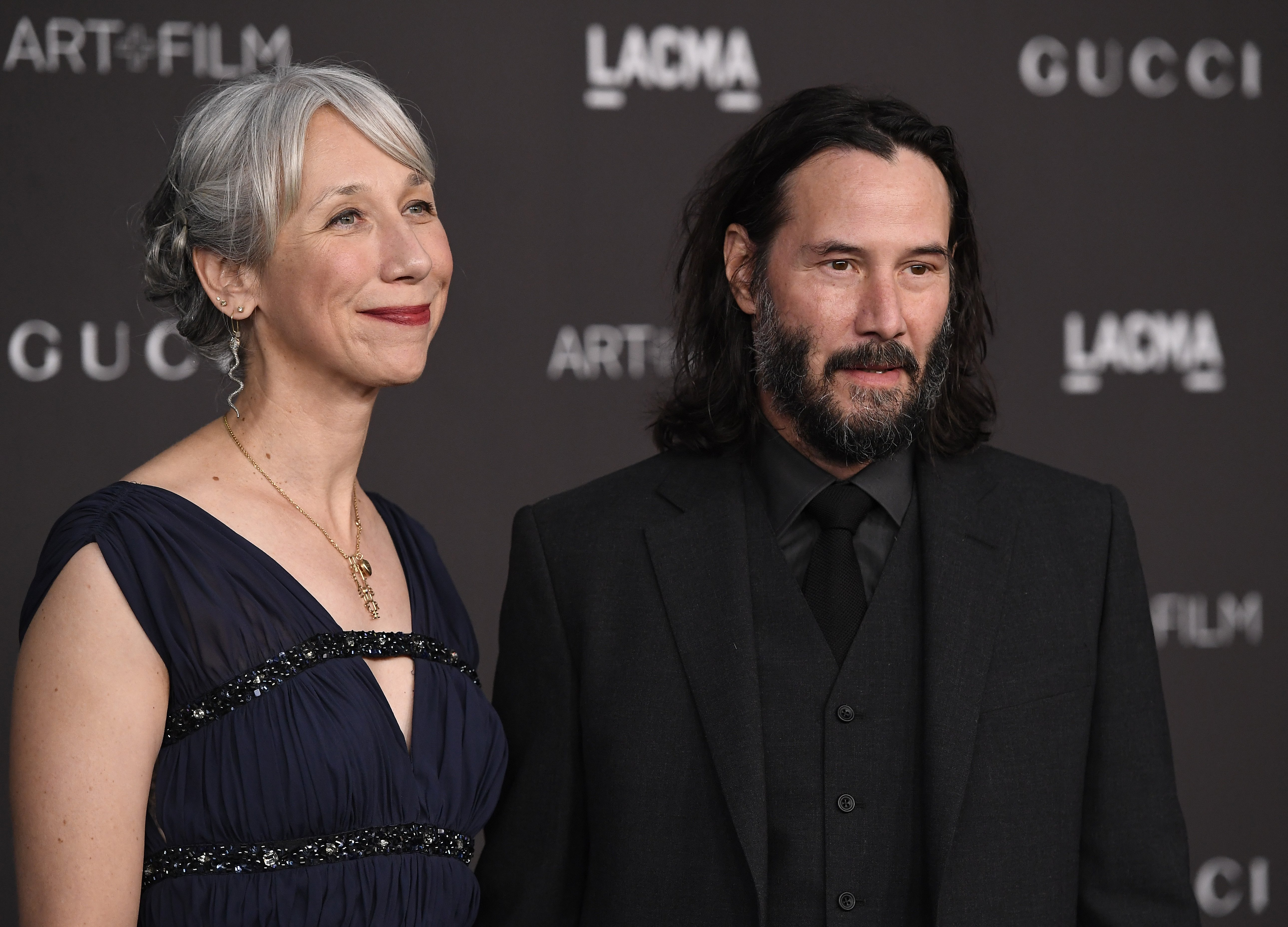 Alexandra Grant and Keanu Reeves attend the 2019 LACMA 2019 Art + Film Gala on November 02, 2019, in Los Angeles, California. | Source: Getty Images.
