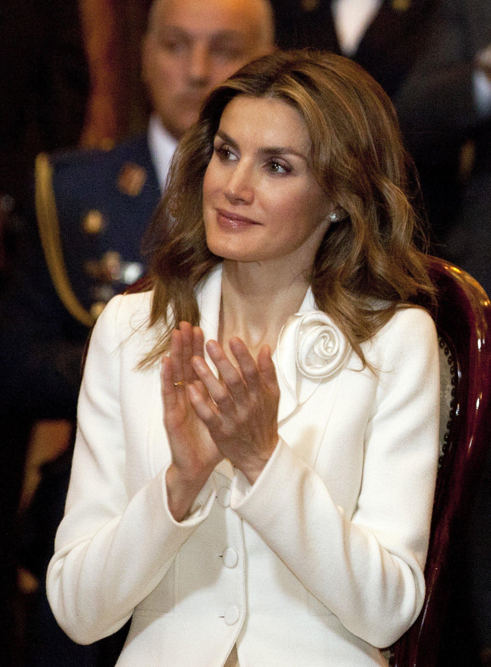 Letizia Ortiz, como Princesa de Asturias, durante una visita oficial a Ecuador en 2012.   Imagen: Wikipedia