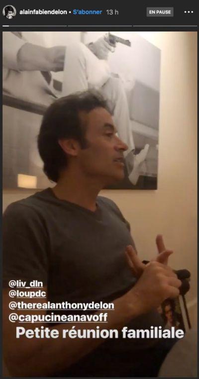 Anthony Delon sur la vidéo postée par Alain-Fabien Delon   Source : Instagram / Alainfabiendelon