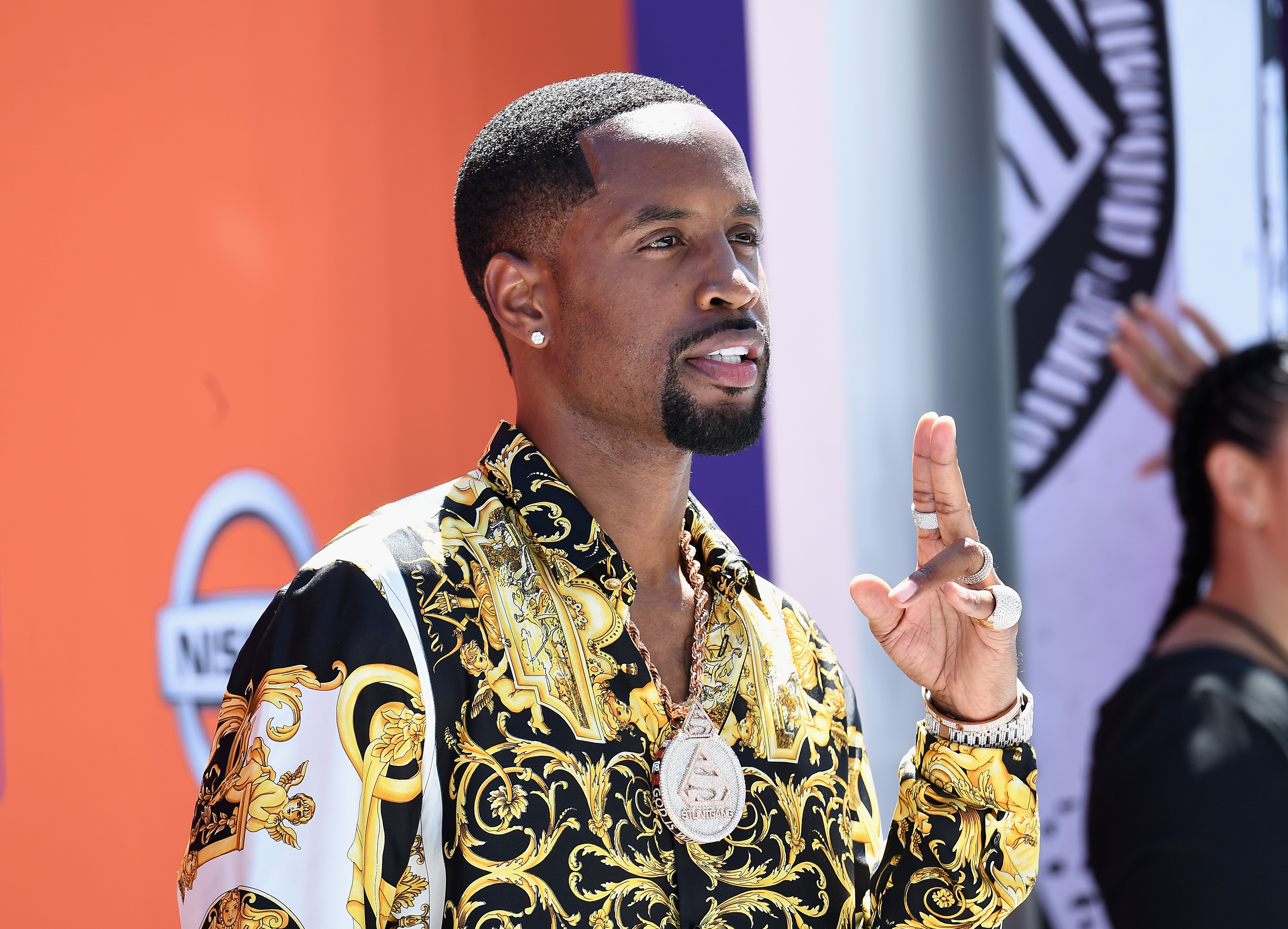 Safaree Samuels at the 2018 BET Awards red carpet. | Photo: Getty Images