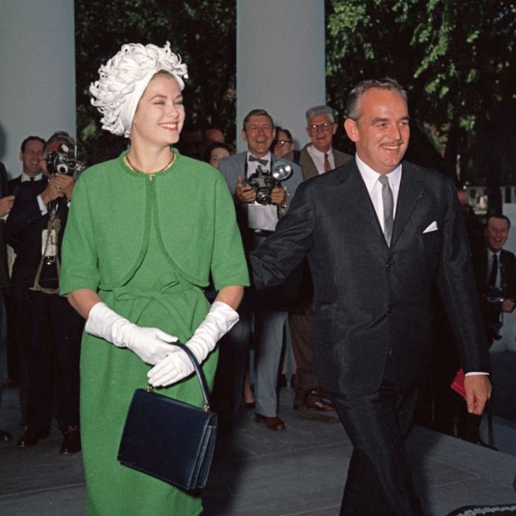Prince Rainier and Princess Grace at the White House in 1961 | Source: Wikimedia