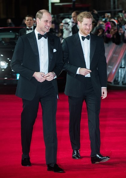 Prince William and Prince Harry at Royal Albert Hall on December 12, 2017 in London, England. | Photo: Getty Images