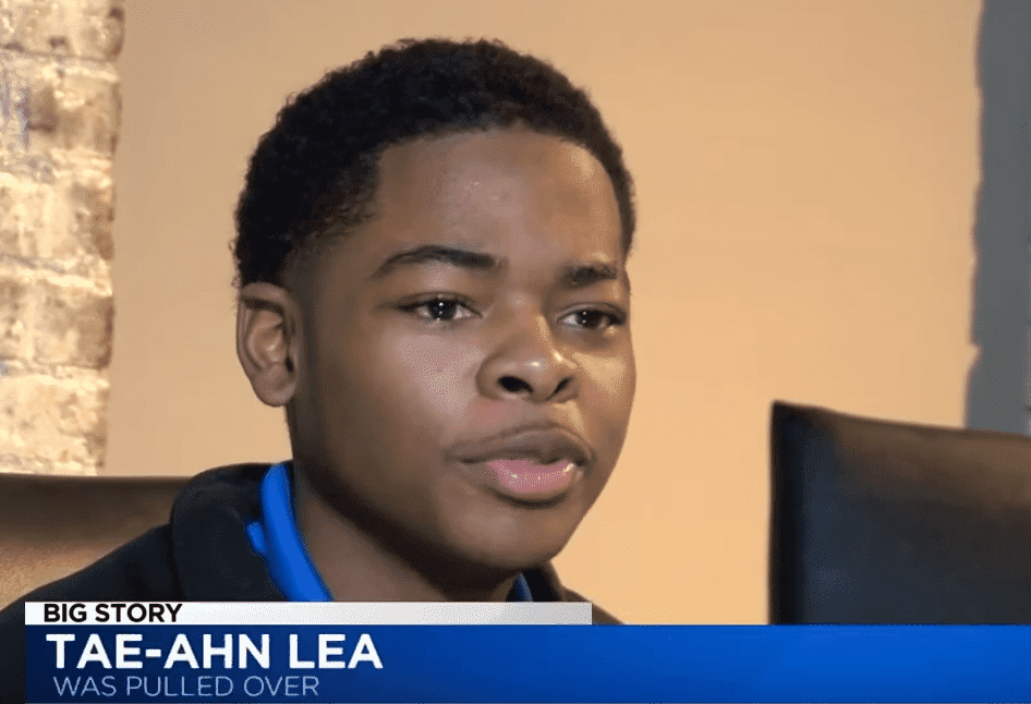 Screenshot of Tae-Ahn Lea, the teenager who was pulled over and handcuffed indiscriminately by cops. | Photo: YouTube/LEX18 News