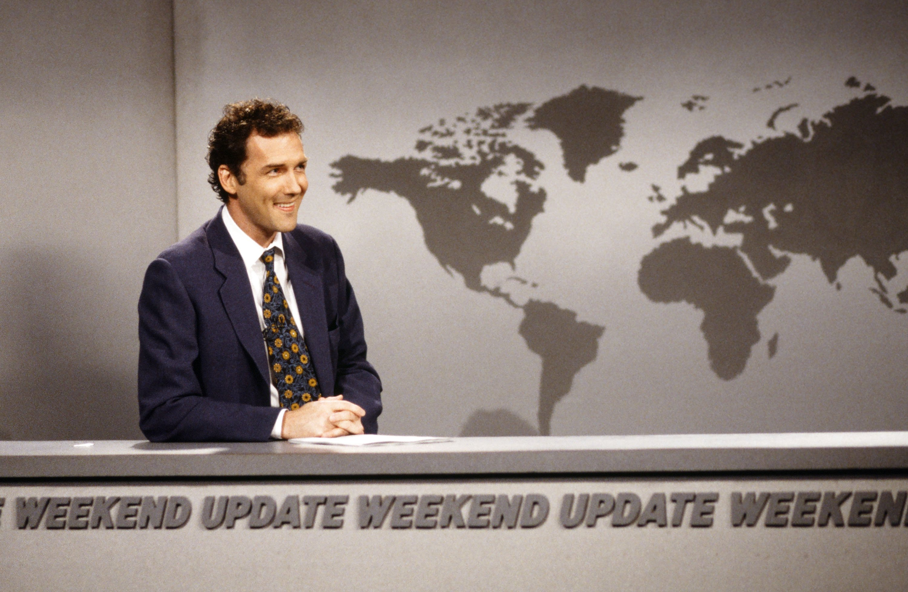 Norm MacDonald during the 'Weekend Update' skit on April 12, 1997. | Source: Getty Images