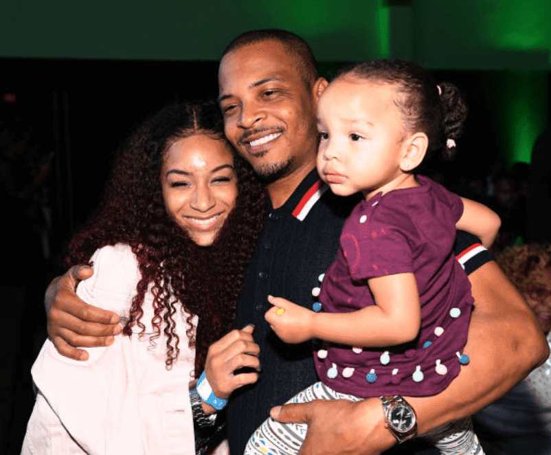 "Tip ""T.I"" Harris embracing his daughter's, Deyjah Harris and Heiress during a viewing party for ""The Grand Hustle,"" at The Gathering Spot, on July 19, 2018 in Atlanta, Georgia Source: Photo by Paras Griffin/Getty Images"
