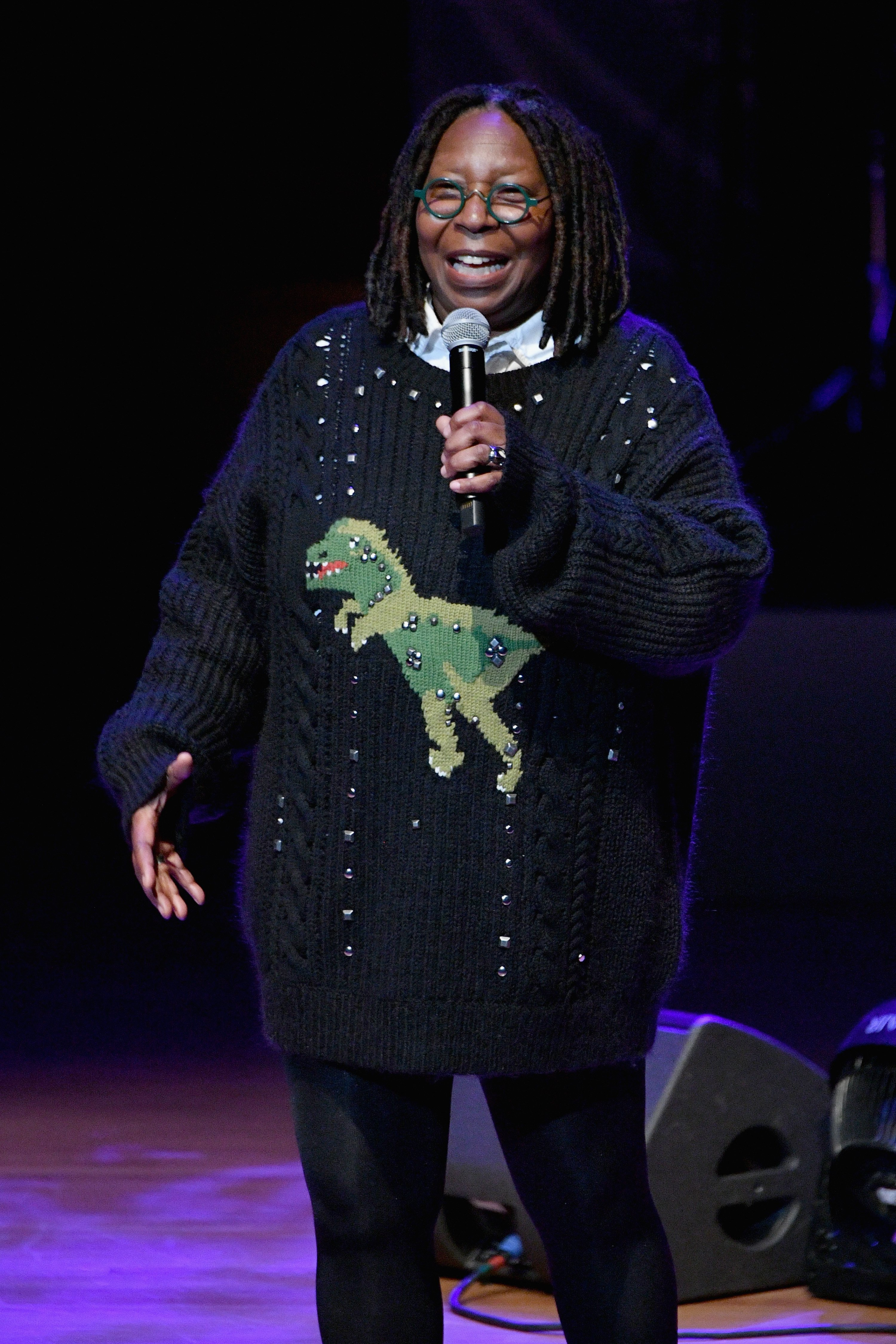 Whoopi Goldberg speaks onstage at the Lincoln Center Fashion Gala - An Evening Honoring Coach at Lincoln Center Theater on November 29, 2018, in New York City. | Source: Getty Images.