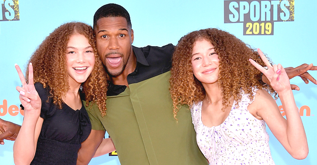 Michael Strahan of GMA Fame Jokes His Twins Tried to 'Kick Him out' of New Family Photo Together