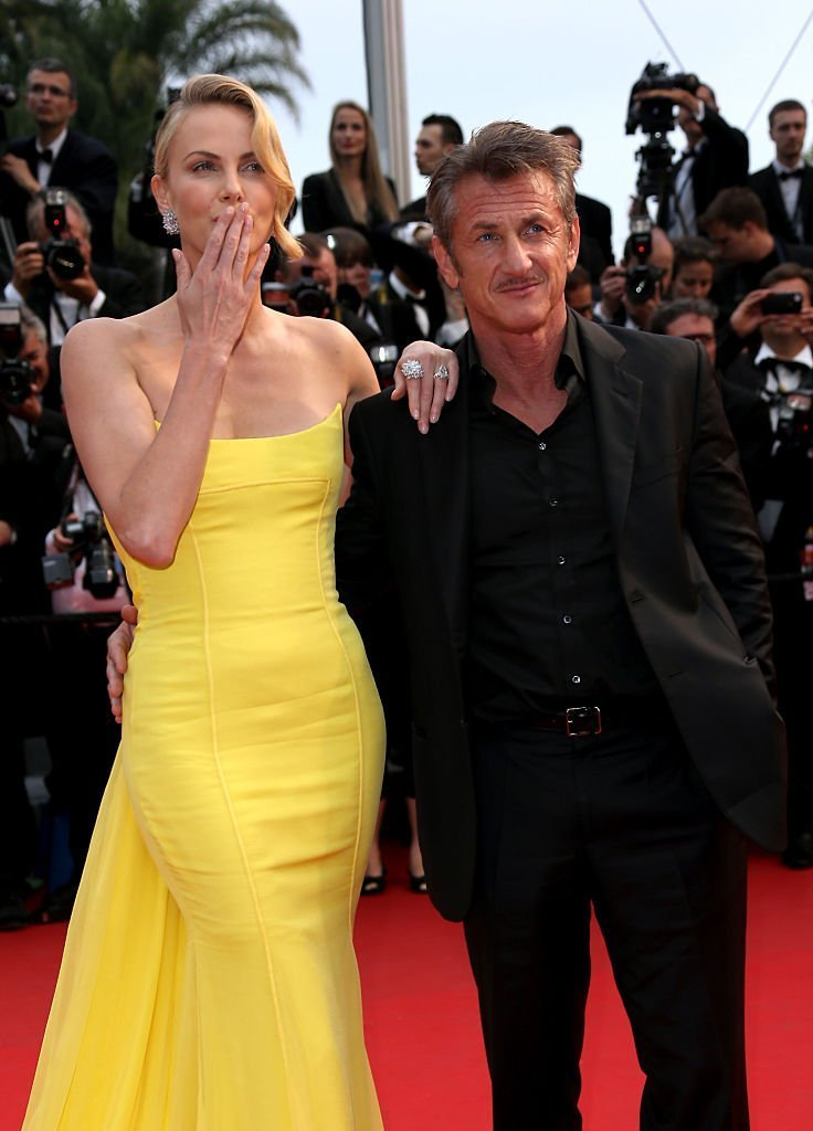 """Sean Penn and Charlize Theron attend Premiere of """"Mad Max: Fury Road"""" during the 68th annual Cannes Film Festival 