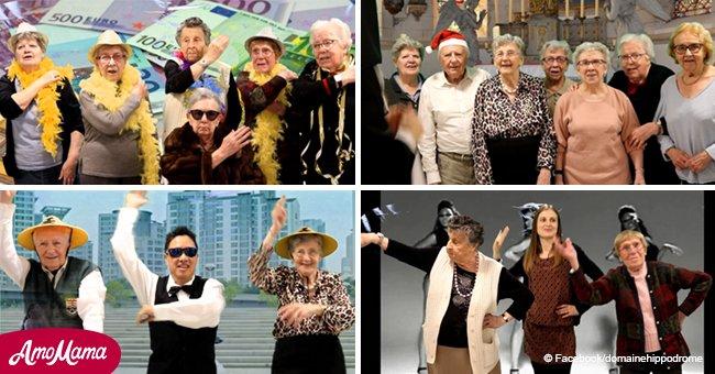 Des retraités ont montré une vidéo mémorable, donnant aux utilisateurs des danses lumineuses sur la musique moderne