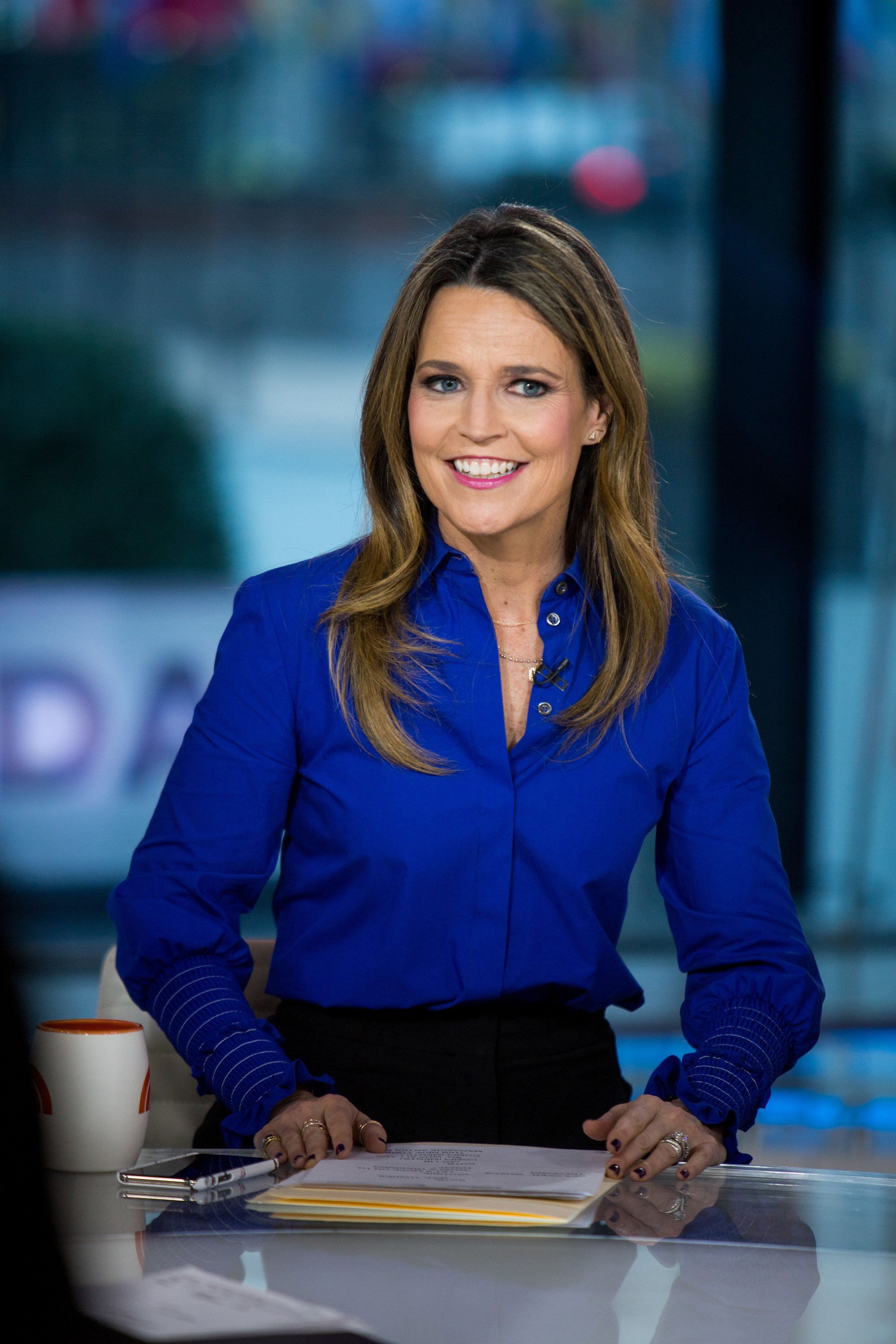 """Savannah Guthrie pictured on the """"Today Show"""" on Thursday, Jan. 18, 2018. 