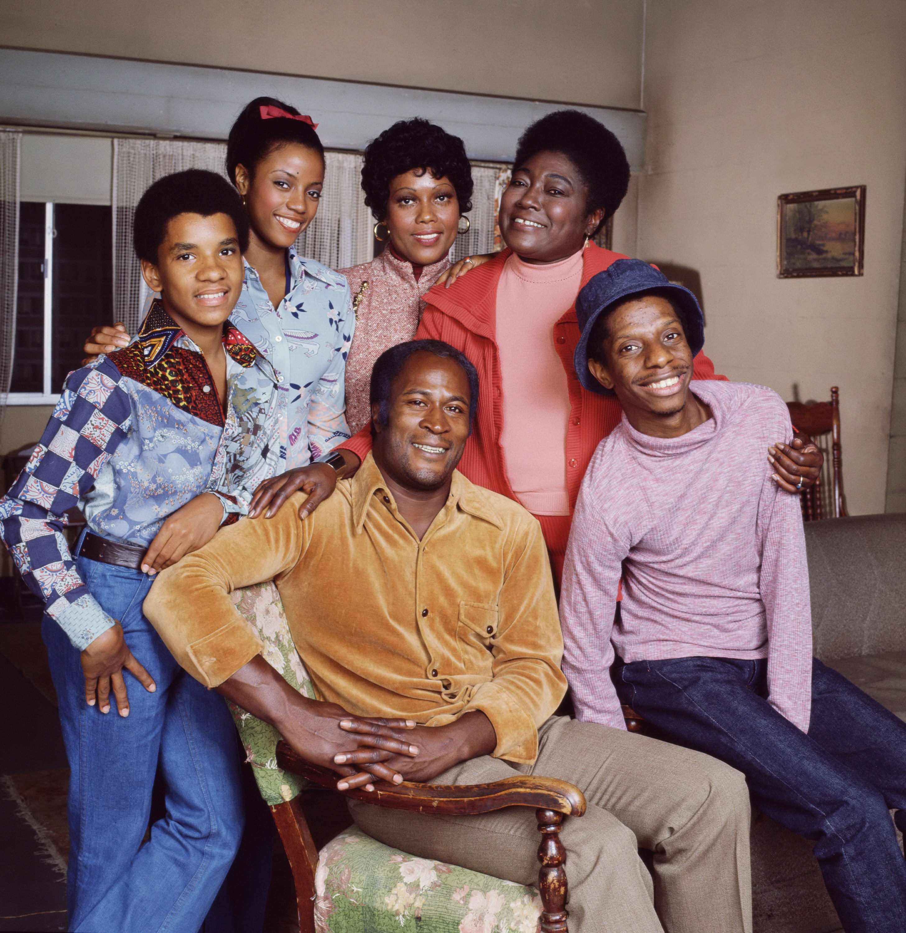Portrait of the cast of the television show 'Good Times,' Los Angeles, California, September 29, 1977 | Photo: Getty Images