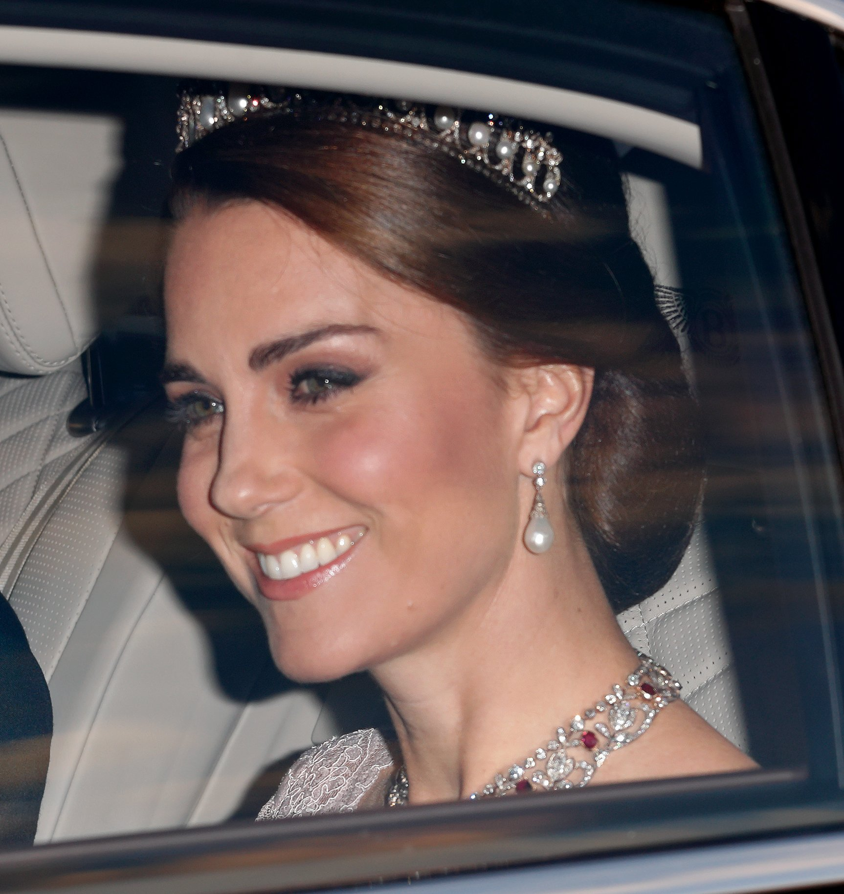 Kate Middleton at a State Banquet at Buckingham Palace on the day of the Spanish State Visit in London, England | Photo: Getty Images