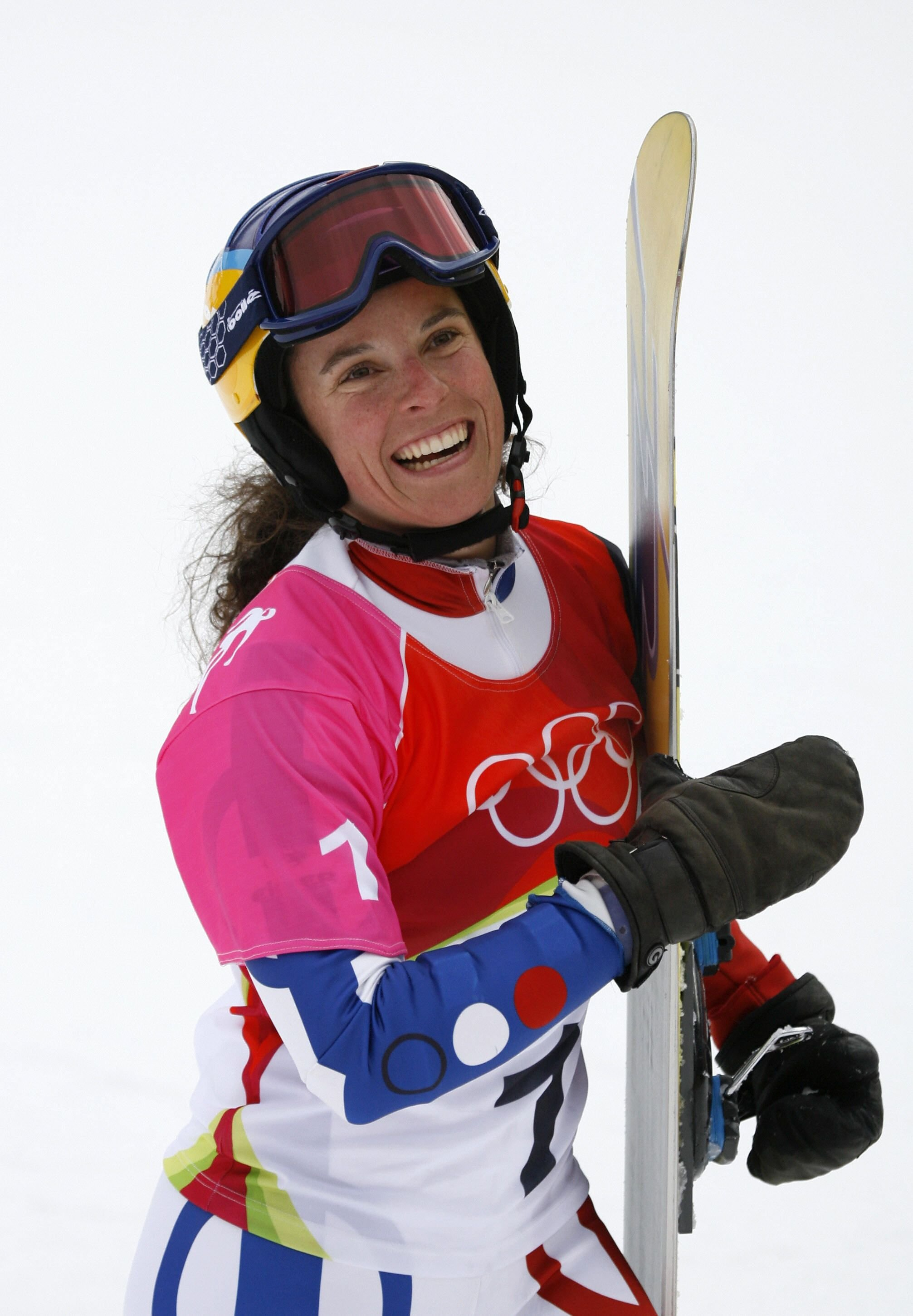 Julie Pomagalski from France after competing on 23 February, 2006   Getty Images