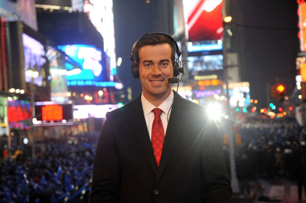 Carson Daly heralding the New Year in Times Square, New York City | Source: Getty Images