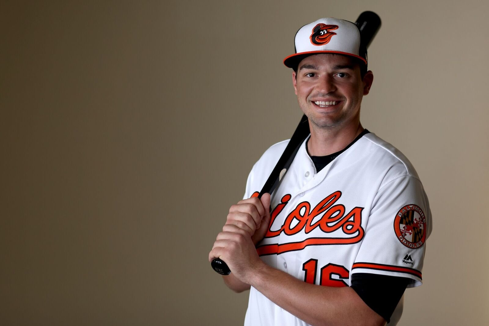 Trey Mancini poses during Photo Day in 2019 | Source: Getty Images