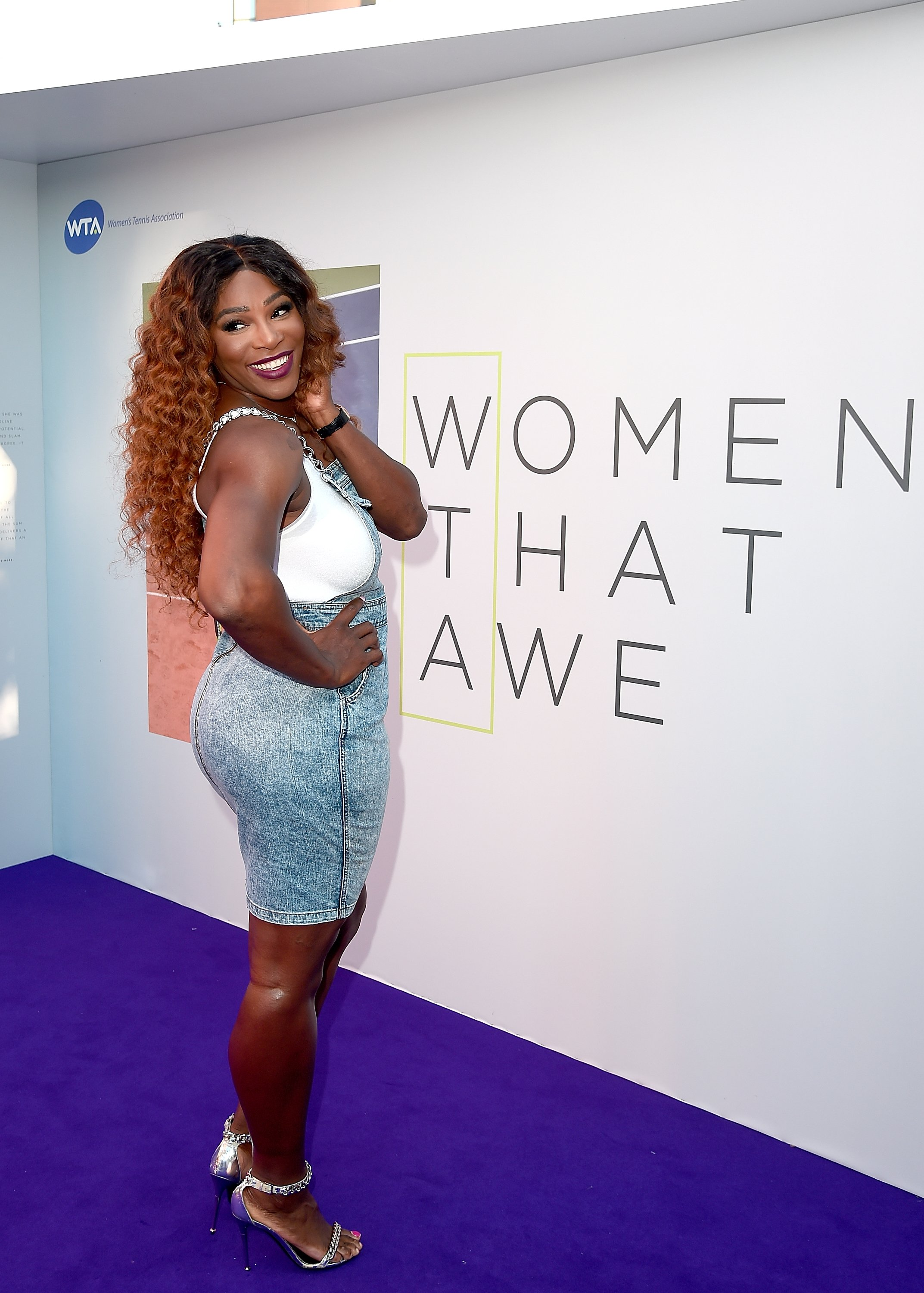 "Serena Williams at WTA's ""Tennis on the Evening"" reception in June 2018. 